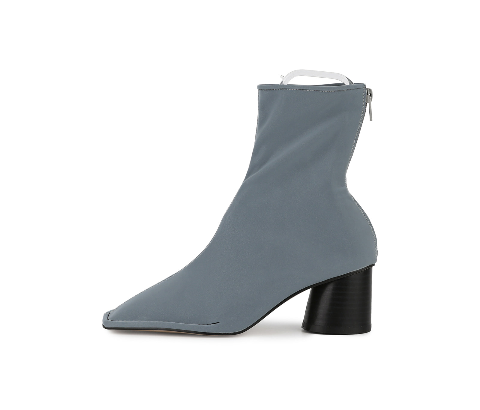 Skipped high heel ankle boots