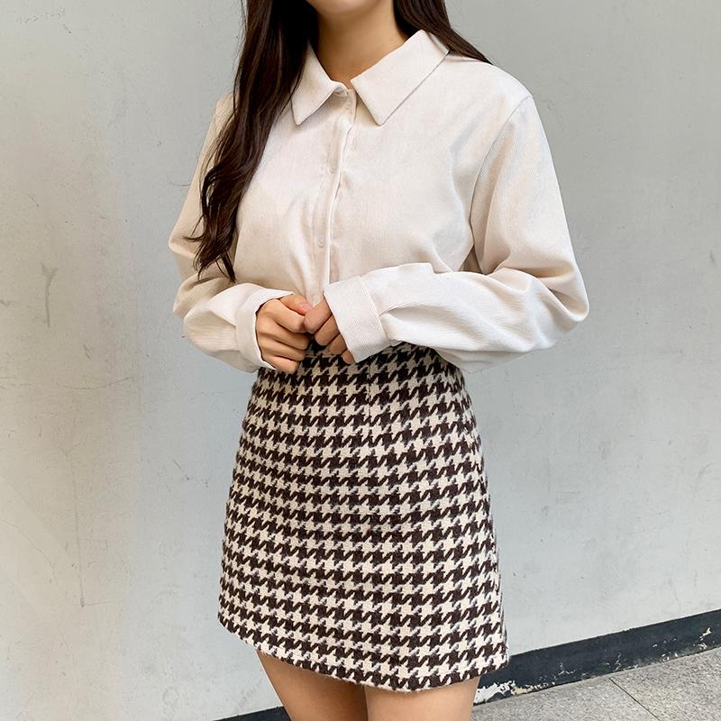 Herring check mini skirt