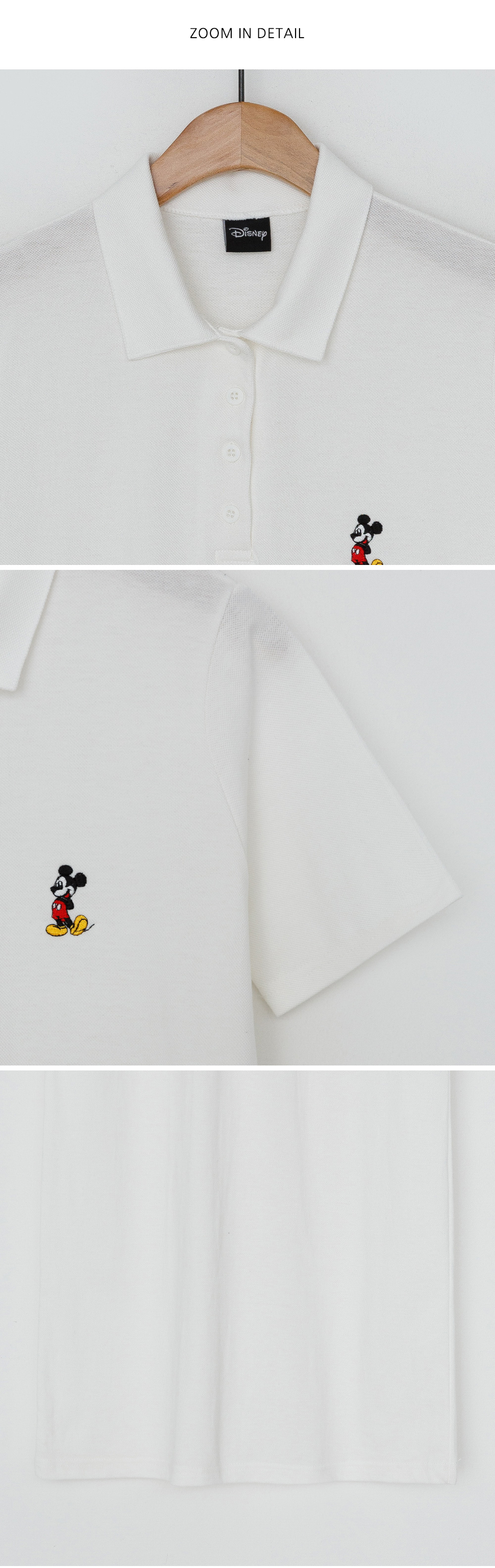 Mickey embroidery color midi dress
