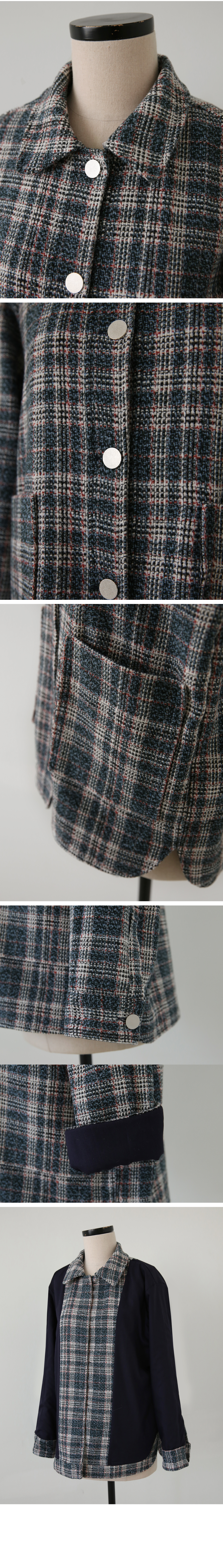 MMMM/ Casual Wool Tweed Jacket