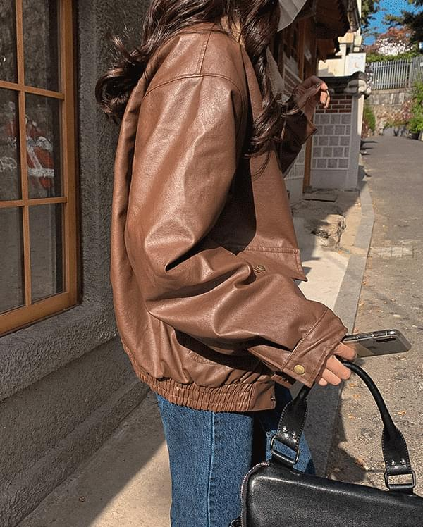 #Any place Andy's Fur leather jacket jacket