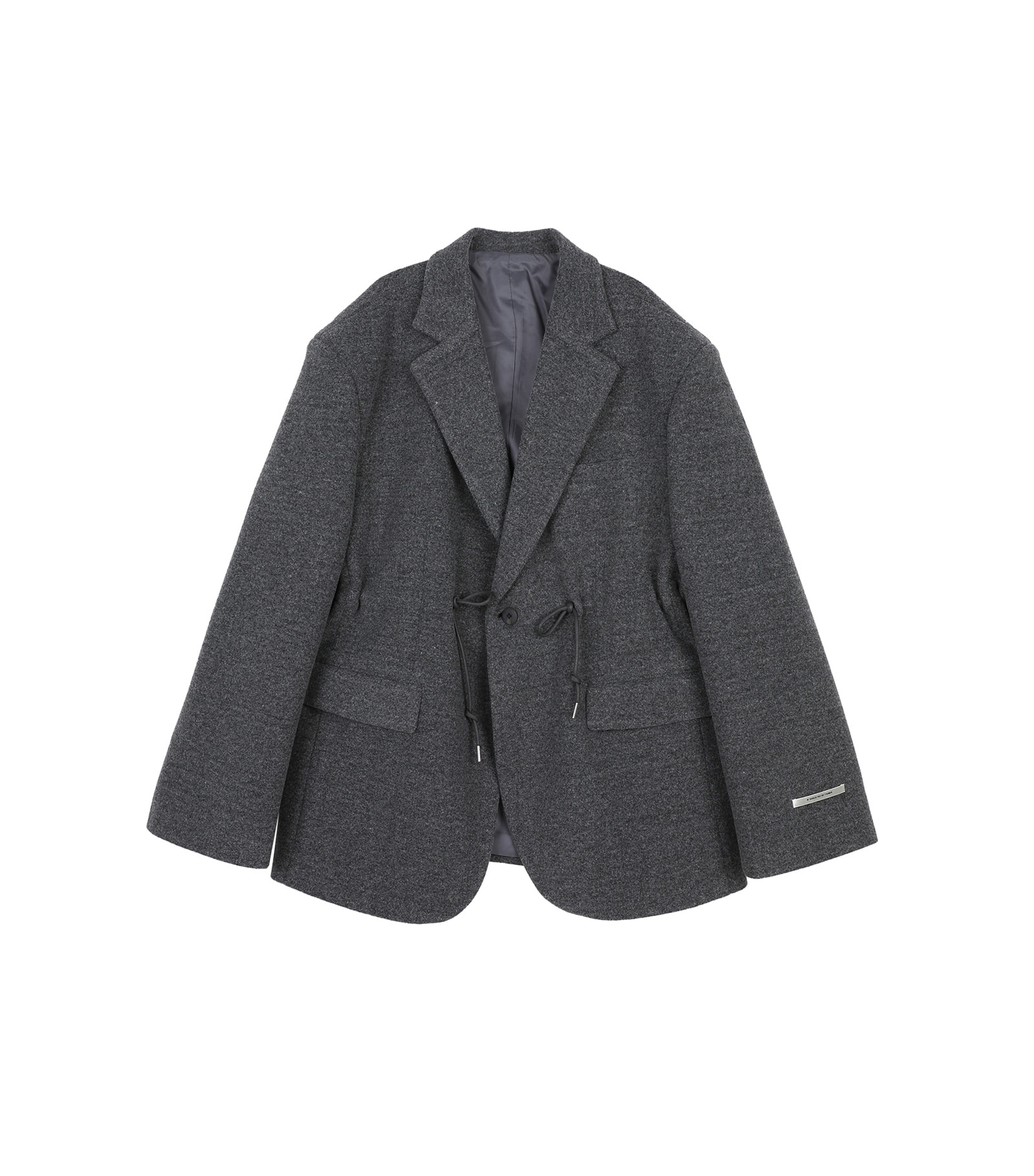 Hiber string unisex wool blazer