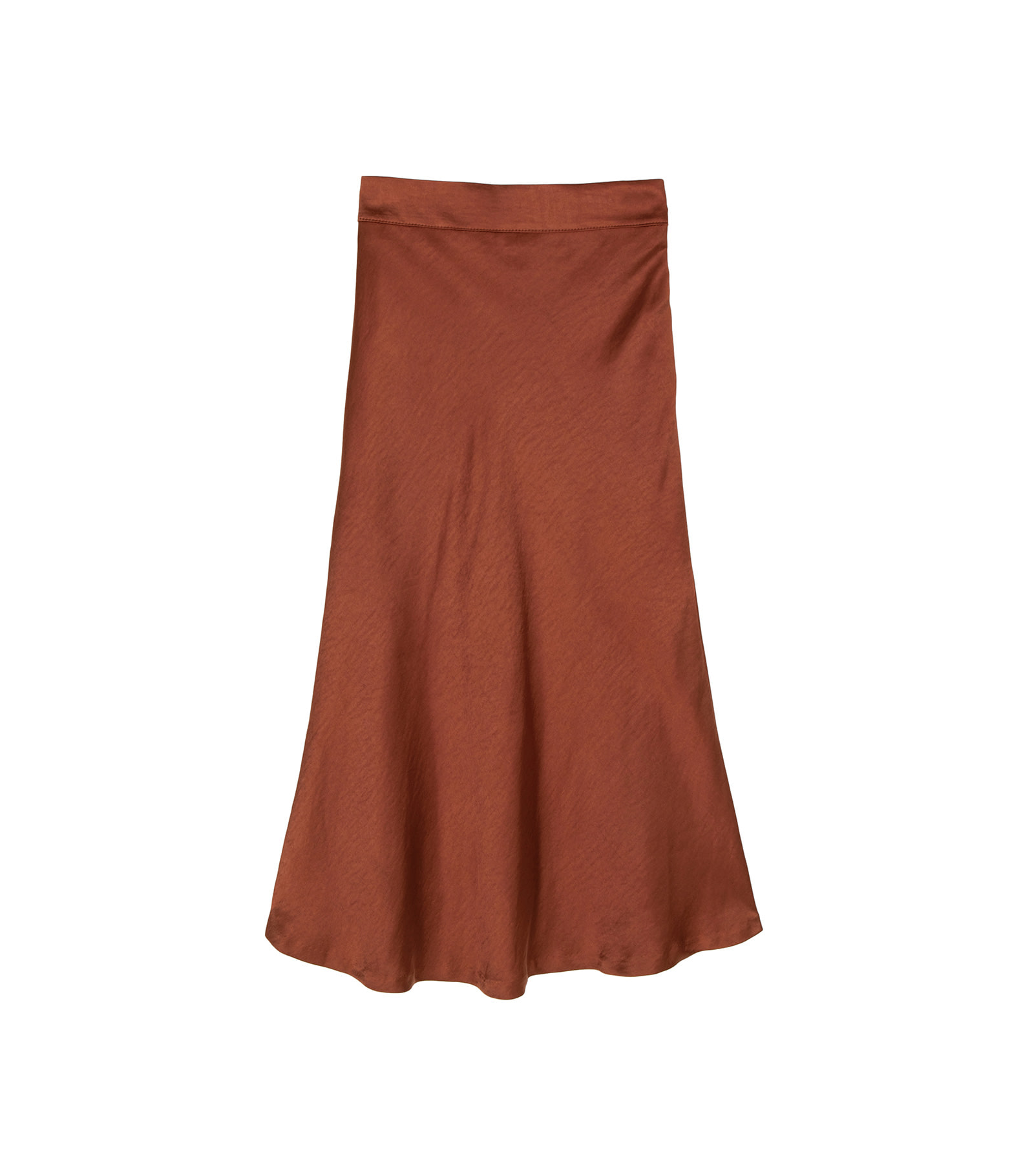 Trick satin flared maxi skirt
