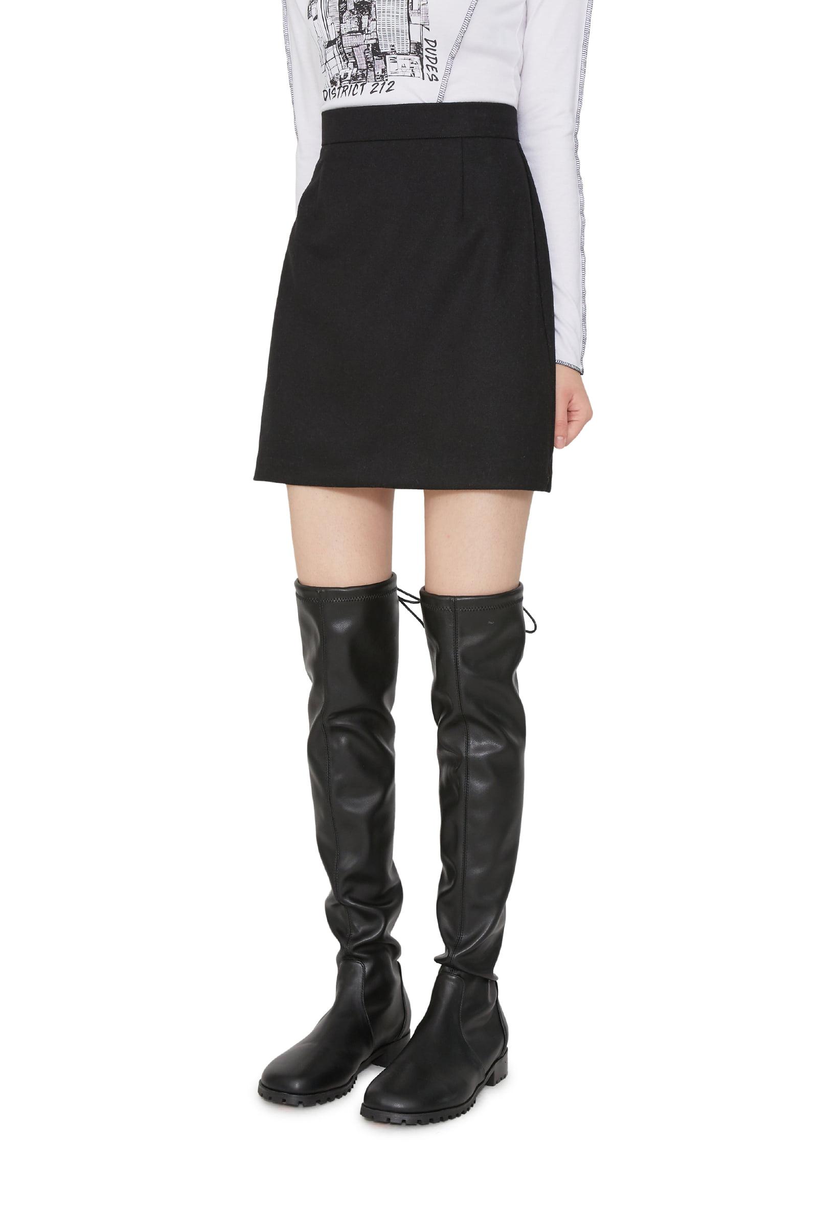 Push up mini skirt