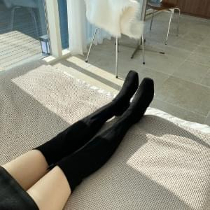Suede Knee-High Long Boots 5cm