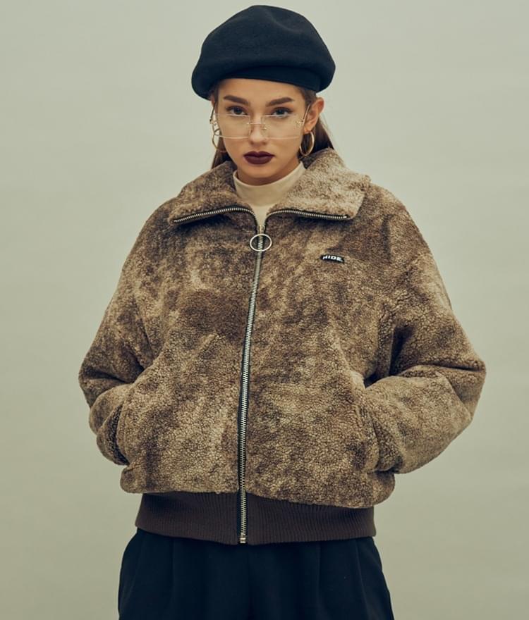 HIDEBrown Sherpa Fleece Jacket