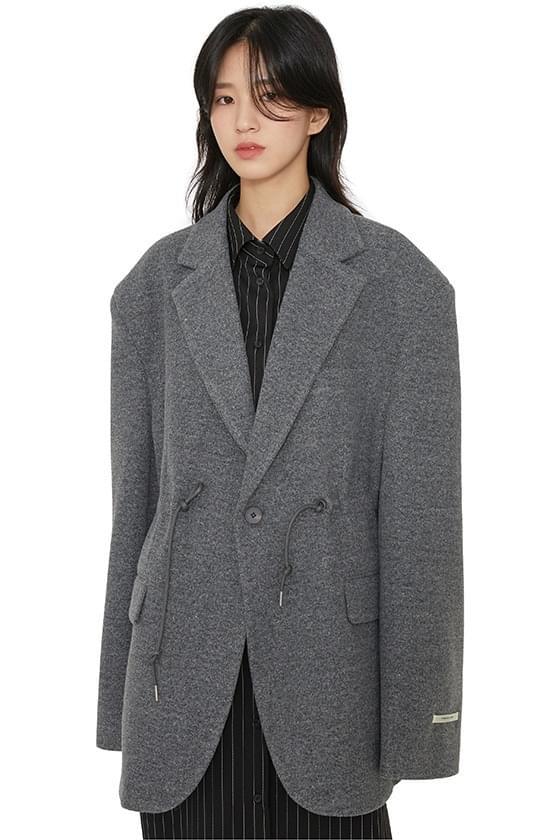 Hiber string unisex wool blazer 大衣外套