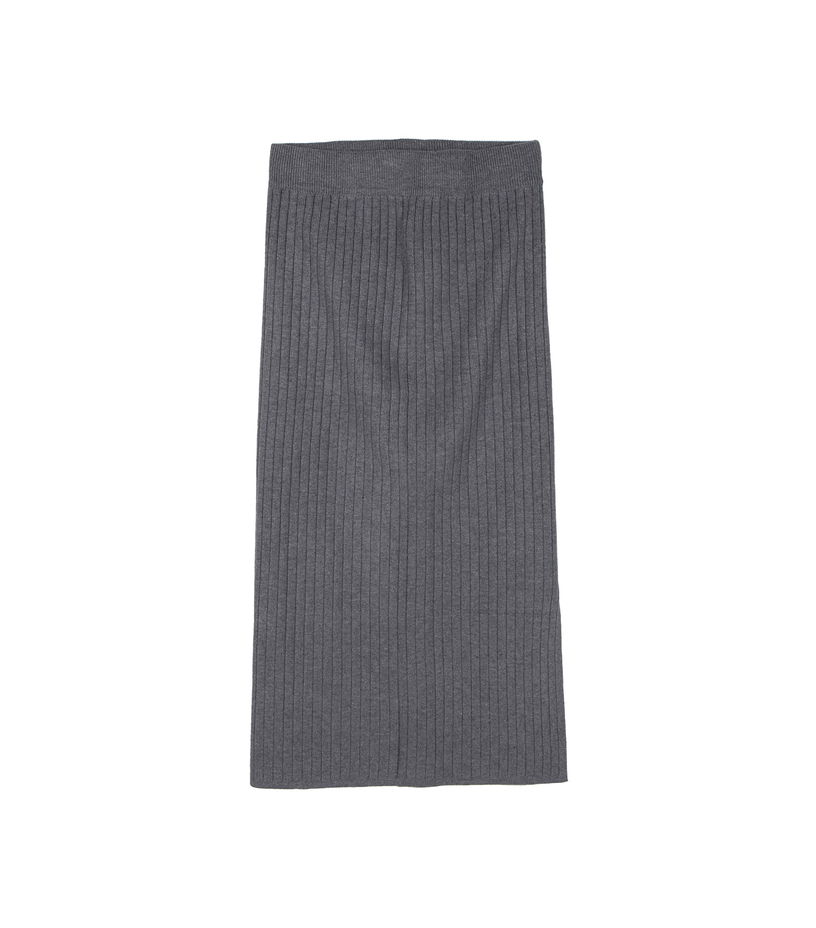 Make slit knit midi skirt
