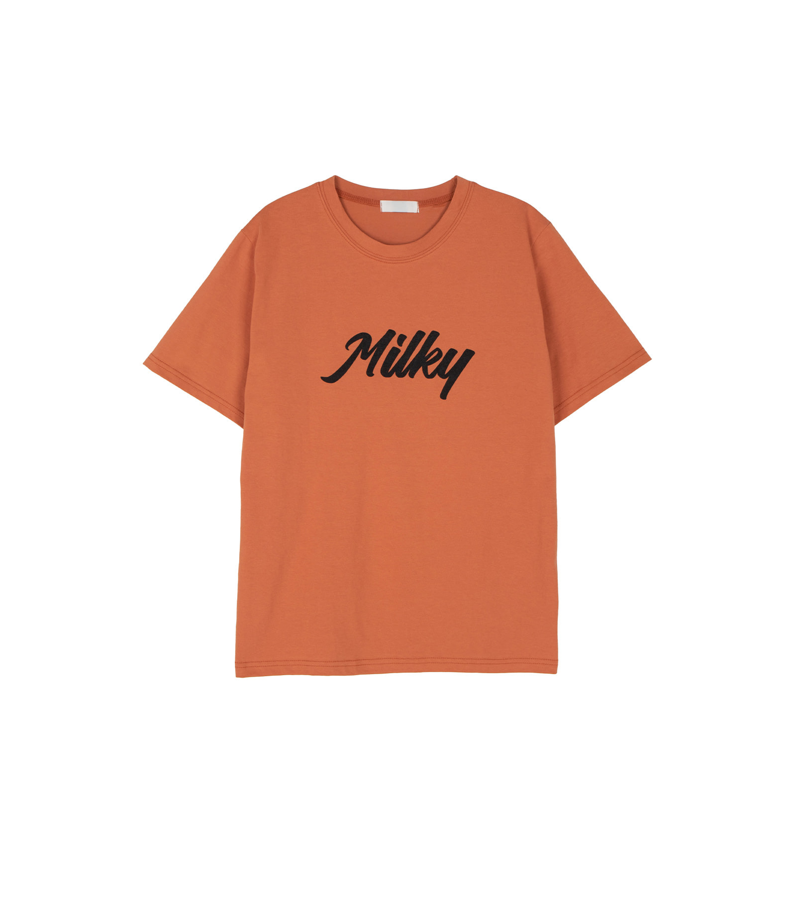 Milky boxy short sleeve T-shirt