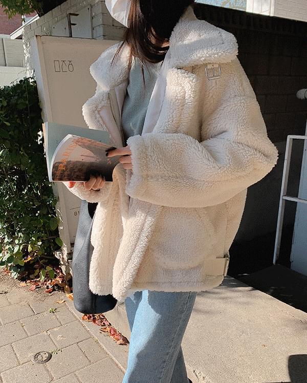 泰迪毛皮帶夾克