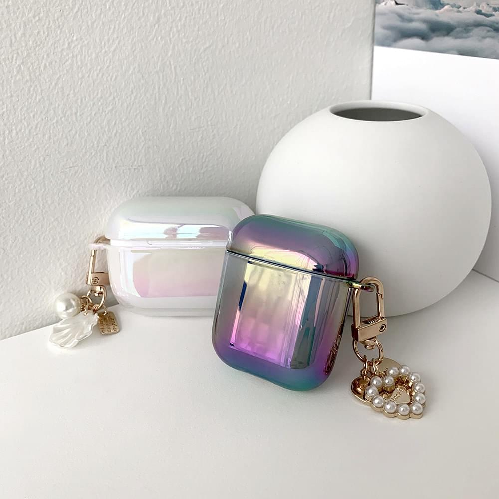 Milky Aurora Shiny Air Pod Case