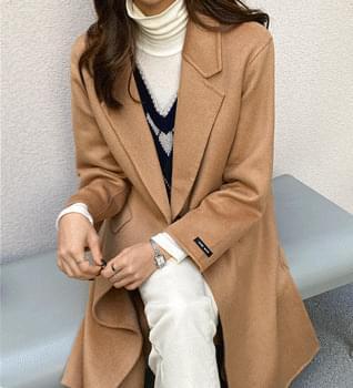 韓國空運 - Modern Handmade Single Coat #65881 大衣