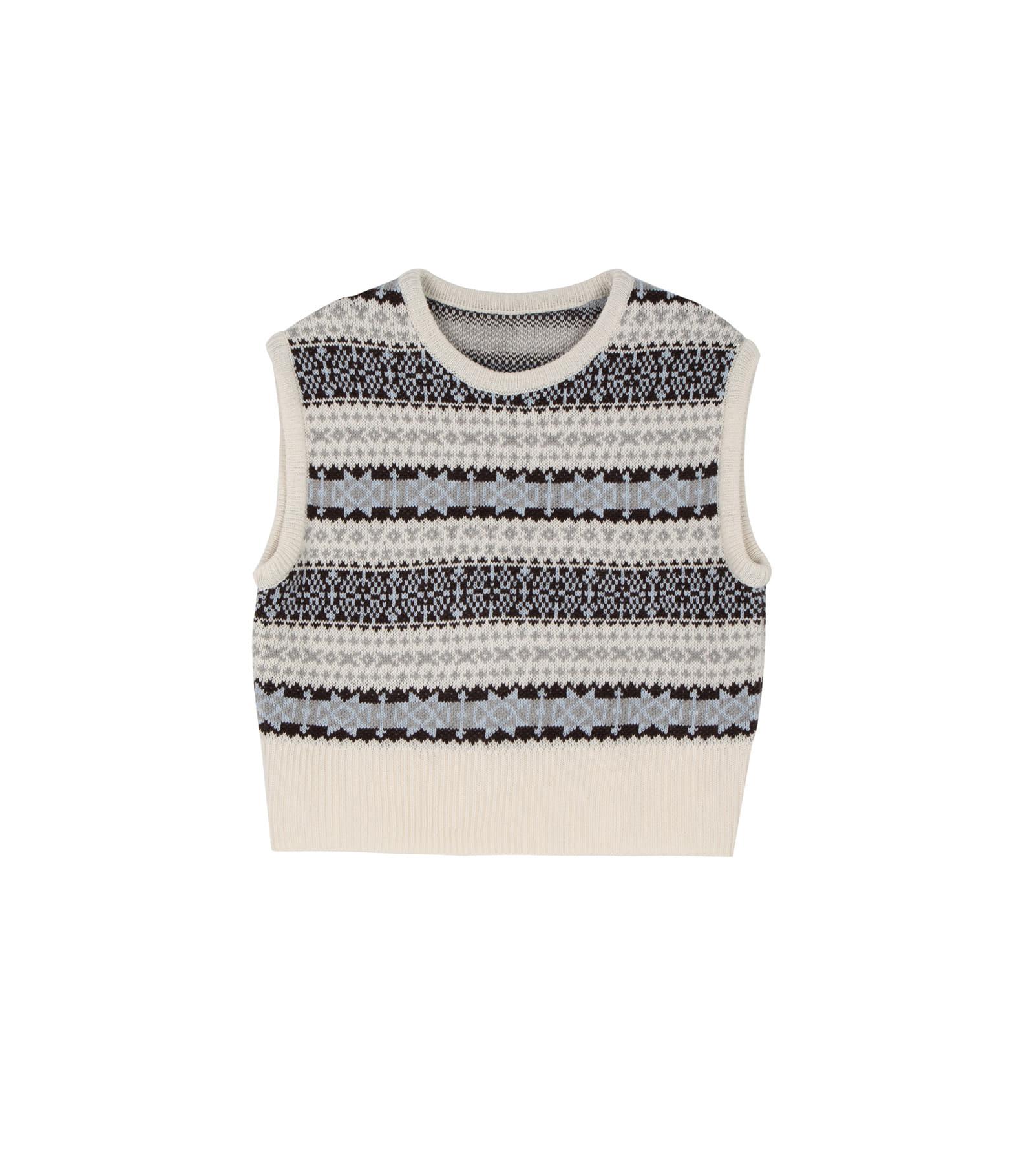 Jacquard knit vest