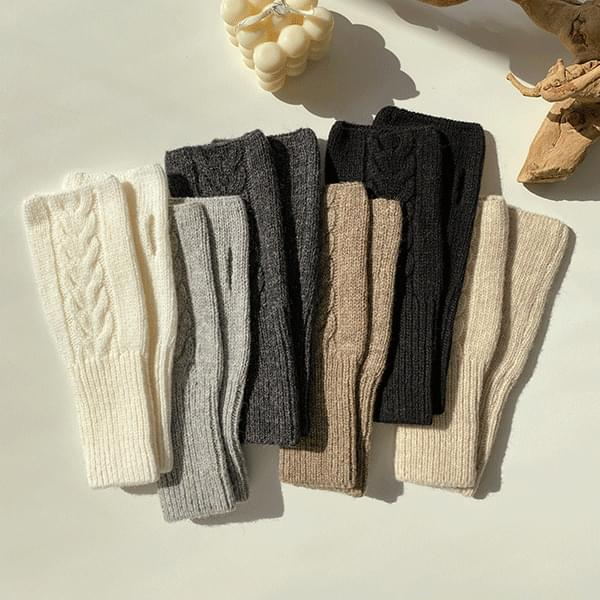 Wool Knit Knitting Arm Warmer 6color 配飾