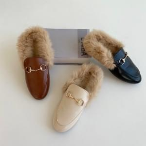 Rabbit Fur Fur Sleeper Mule Blower