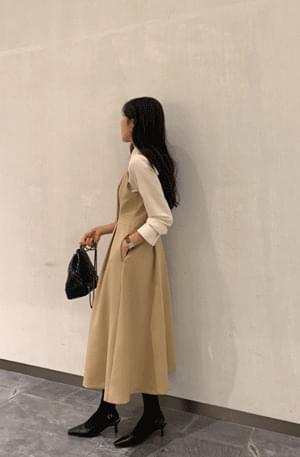 Selena Pintuck Flare Dress