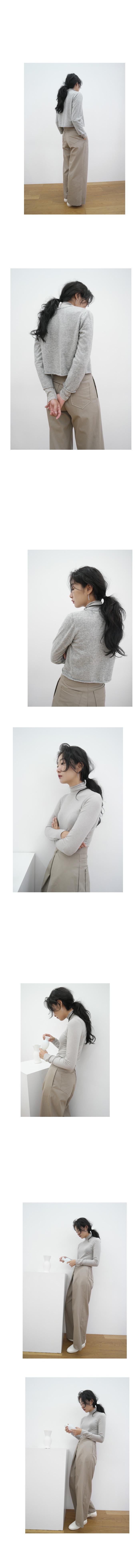 cut-off neck slim top