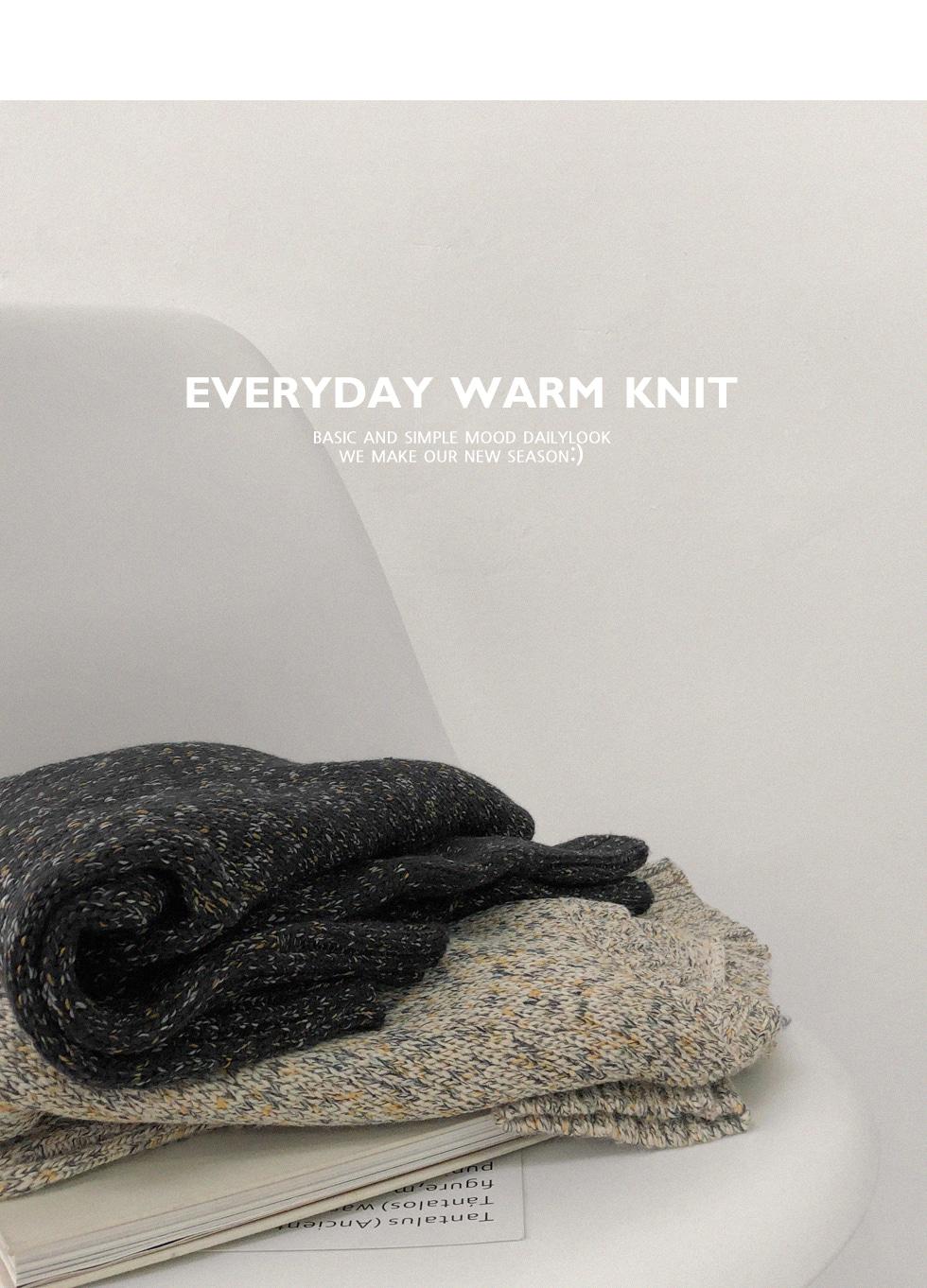 Walnut Round Knit