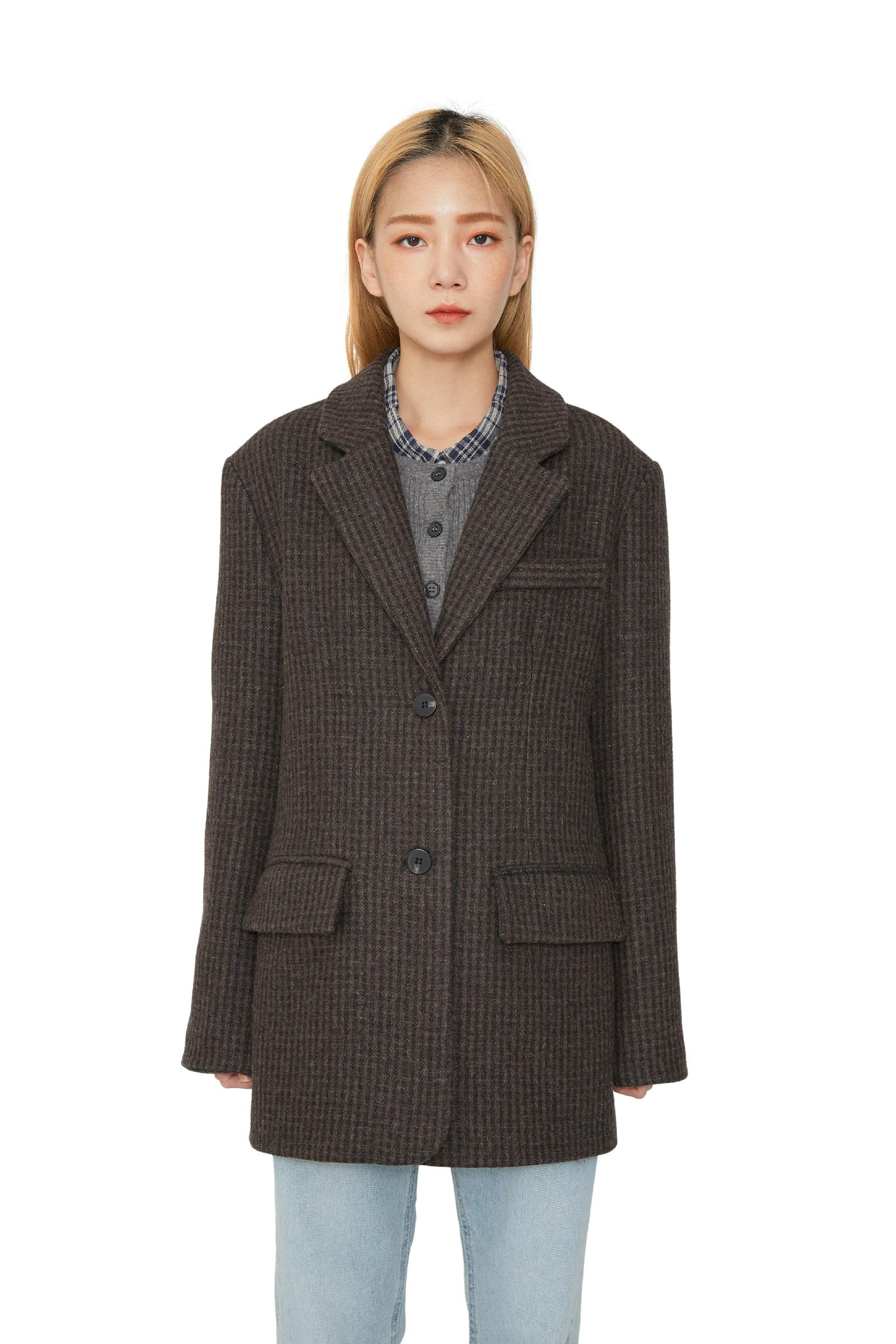 Maple wool check blazer