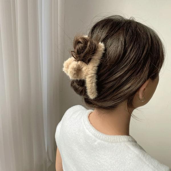 Angora twist hair clip pin 5color 配飾