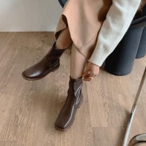 Square Middle Ankle Boots 3cm