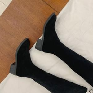Wide Span Suede Knee High Boots4.5cm