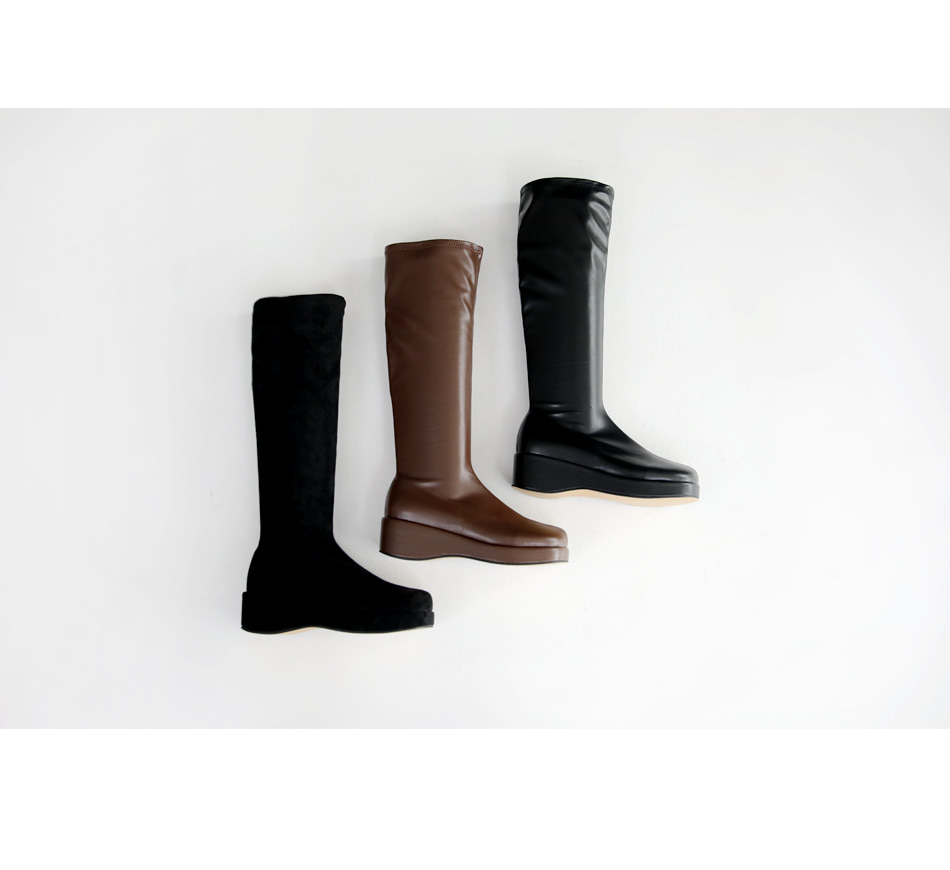 Defits Socks Wedge Long Boots 4cm