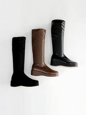 Defits Socks Wedge Long Boots 4cm 靴子