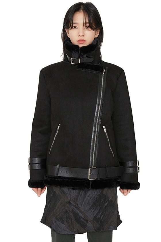 Softy belted fur mustang jacket 夾克外套