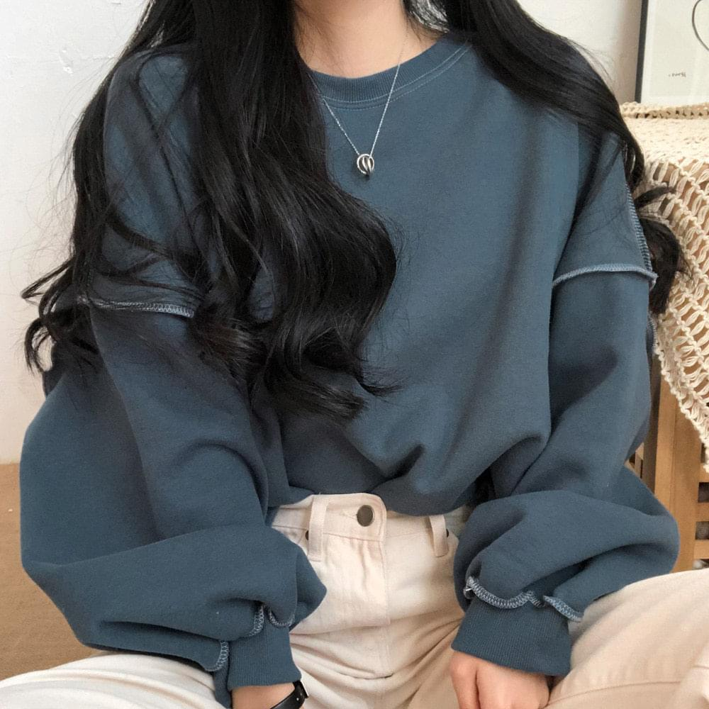 Over stitch sweatshirt