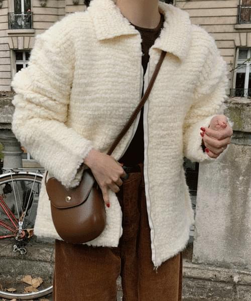 Puppy knit jacket