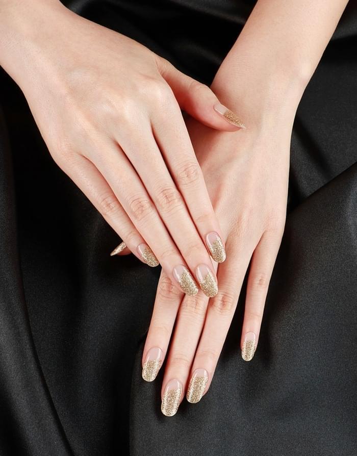 Gold diagonal glitter Body / Hair / Nail