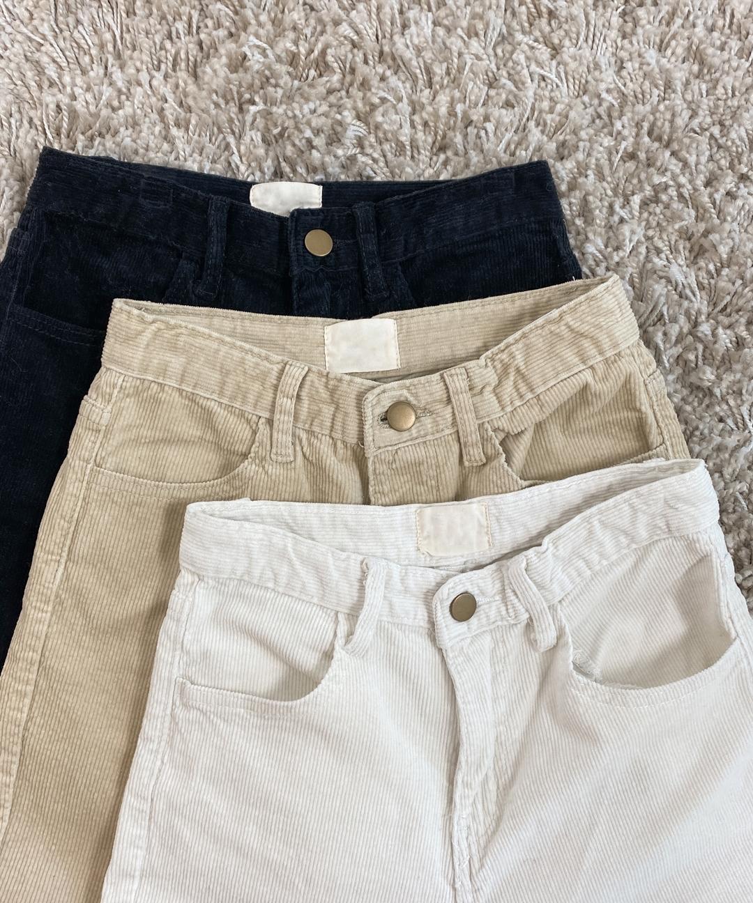 Straight Cut Corduroy Pants