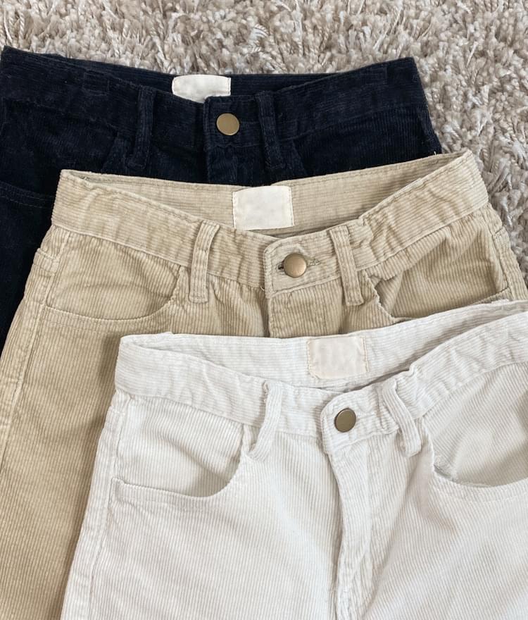 Straight Cut Corduroy Pants 長褲