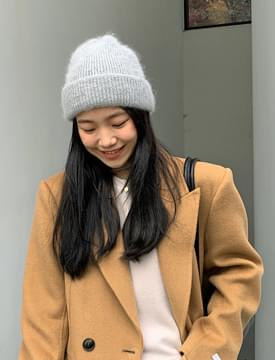 Snow Angora Beanie Hat