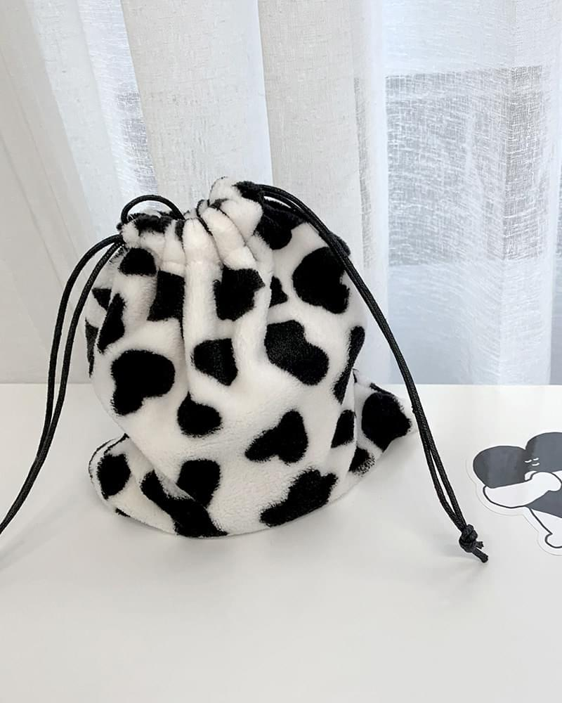 Cow Spotted Fur Pouch Cross Bag