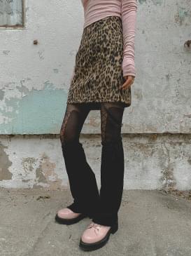 Leopard tanger mini skirt