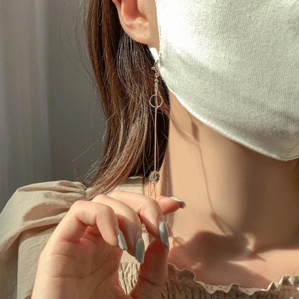 Bright Stone Mask Strap String Necklace 項鍊