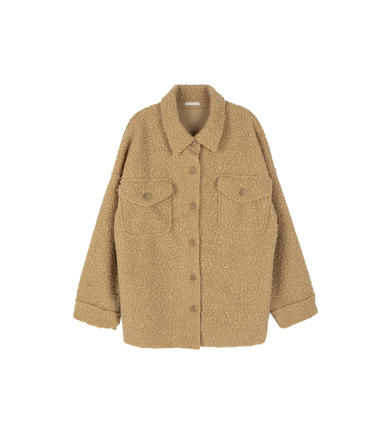 Amber button shearling jacket