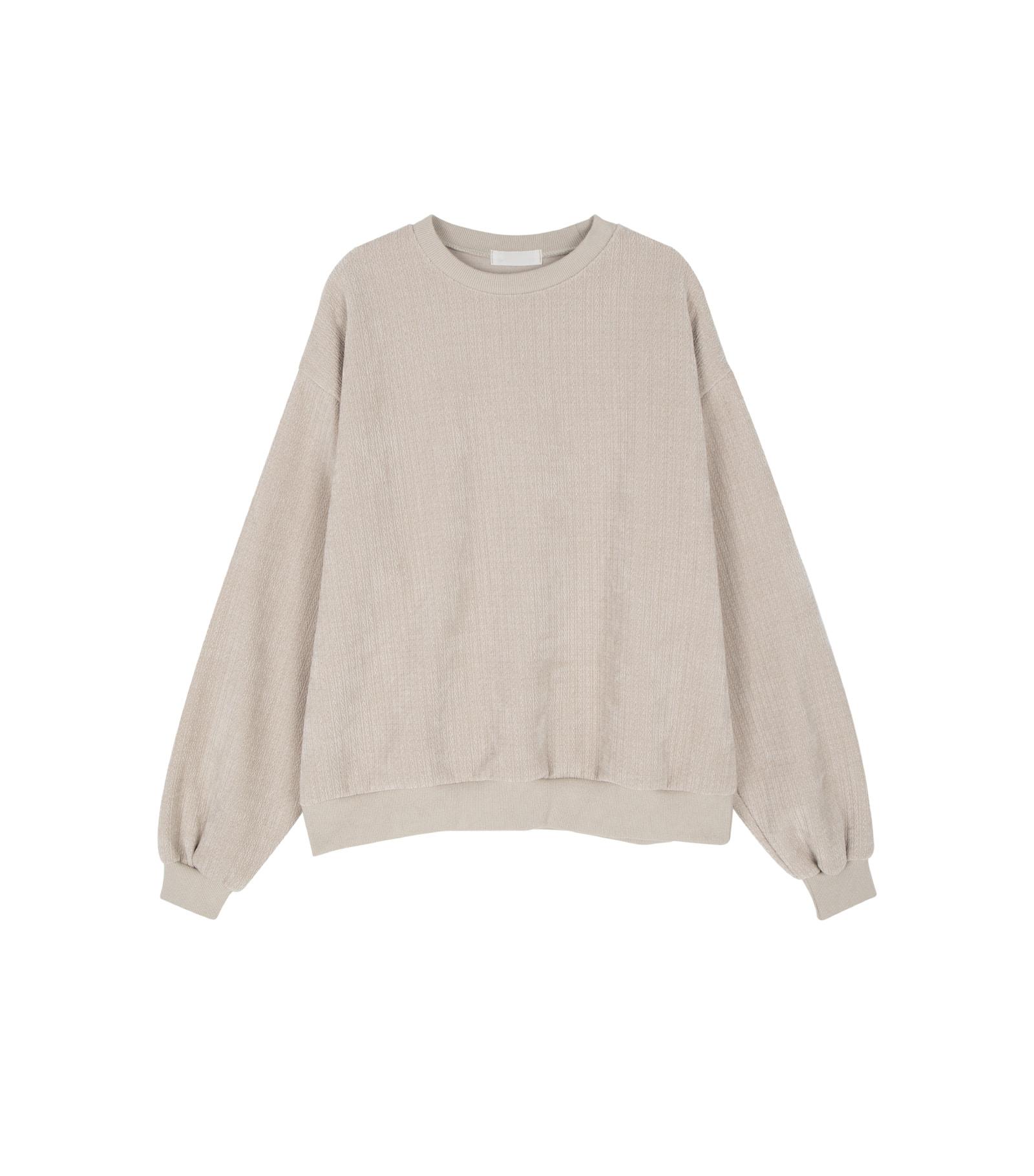 Only velvet crew neck sweatshirt