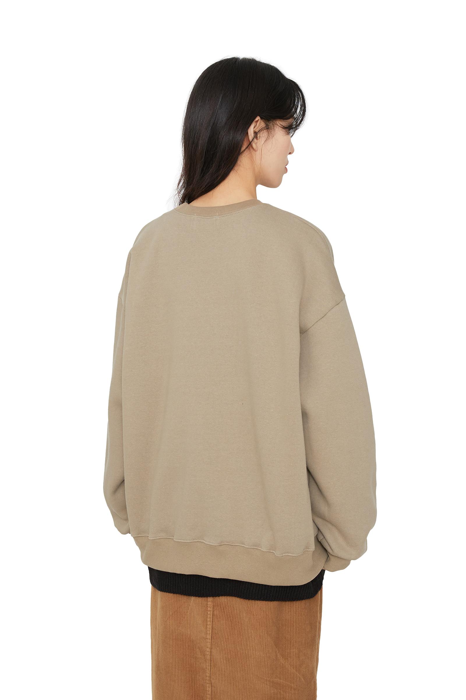 Carbage brushed crew neck sweatshirt