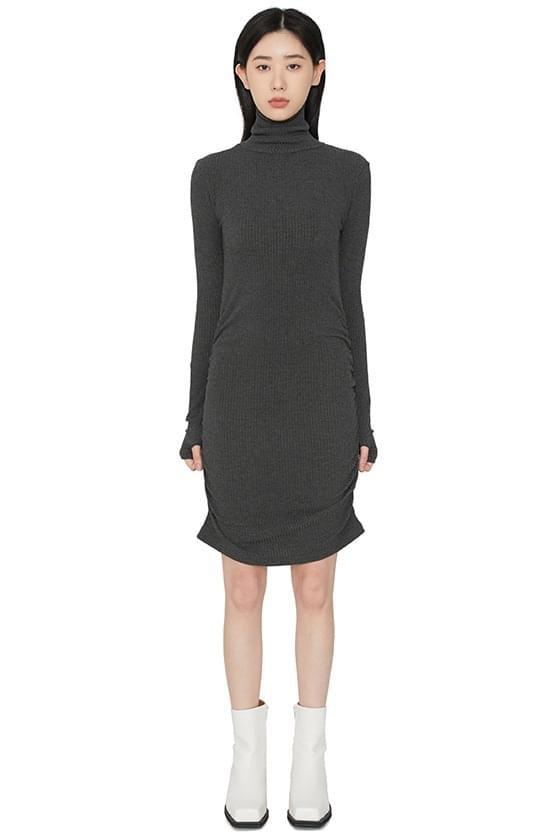 韓國空運 - Jessie Ribbed ruched mini dress 洋裝