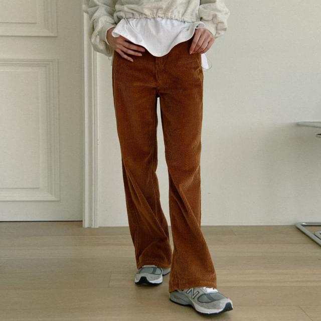 Story wide corduroy pants