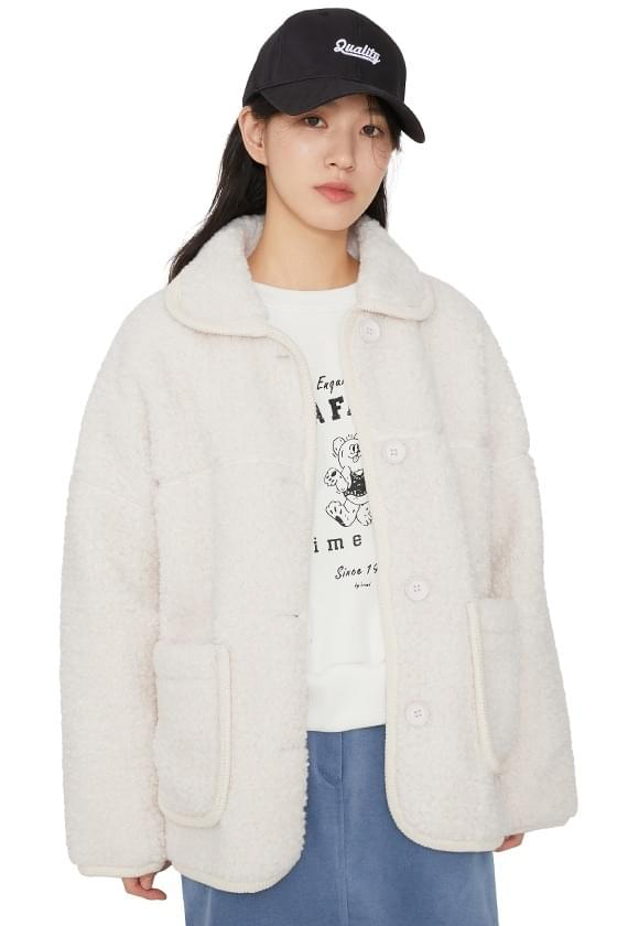 Fury collar shearling jacket