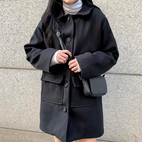 Crown pocket coat (人氣商品配送延遲) 大衣外套