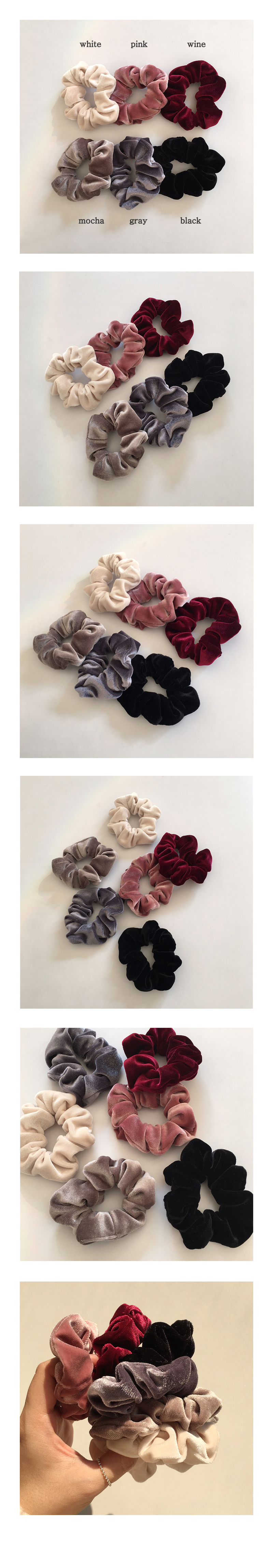 mini velvet scrunchie