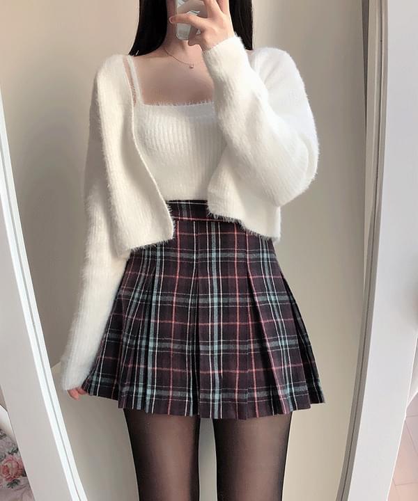 Purple Dazel Check Mini Skirt 裙子