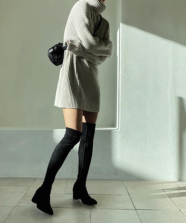 Serene Span Long Boots 5cm 靴子