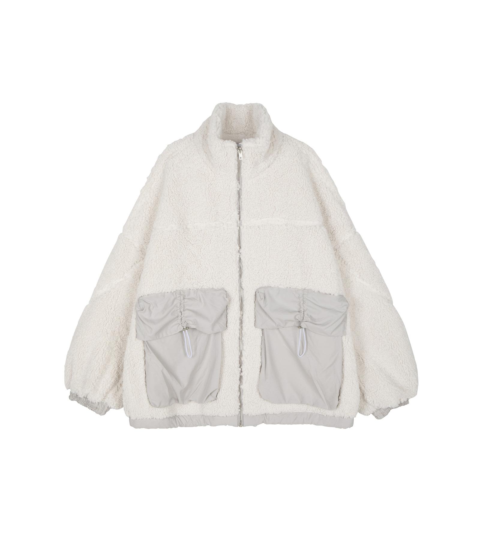 Unisex Big Pocket Color Shearing Jacket