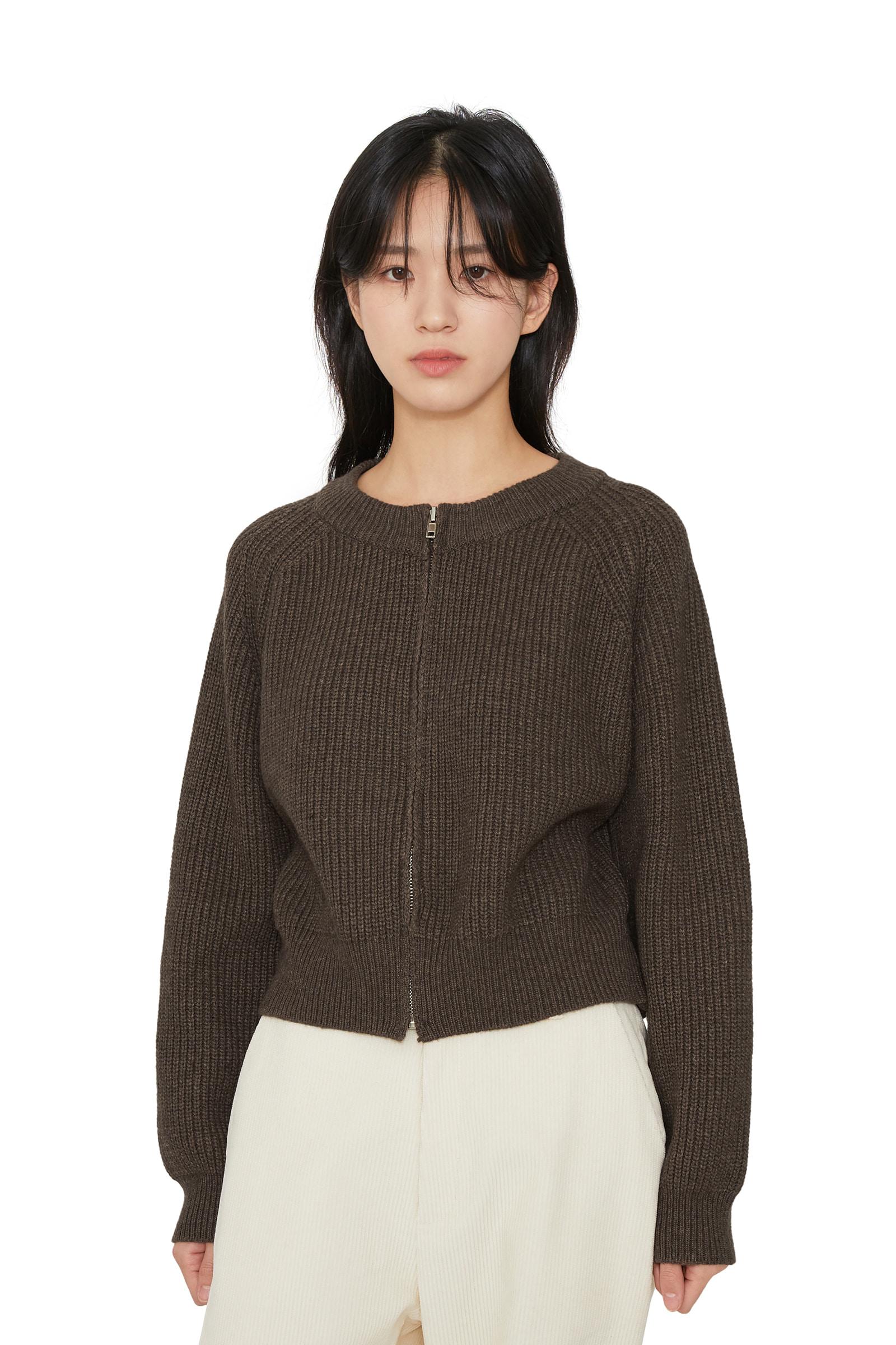 Hachi zip-up cardigan